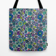 Welcome birds to  my garden. blue Tote Bag