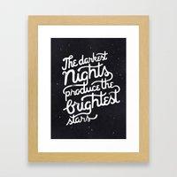Darkest Nights Framed Art Print