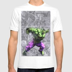 Banner Mens Fitted Tee White SMALL