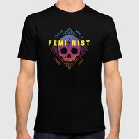 This is a Feminist Mens Fitted Tee Black SMALL