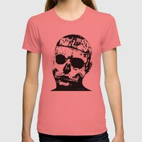 Rick Genest (Zombie Boy) Womens Fitted Tee Pomegranate SMALL