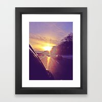 Sunset Blv. Framed Art Print
