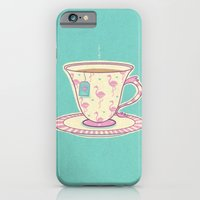 iPhone & iPod Case featuring Flamingo tea by Fran Court