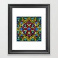The Flower of Life (Sacred Geometry) Framed Art Print