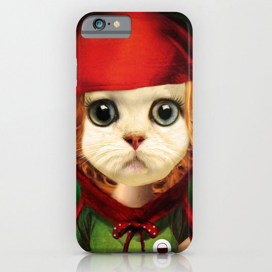 Kitten red riding  iPhone & iPod Case