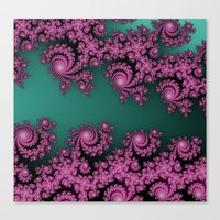 Fractal In Dark Pink And… Canvas Print