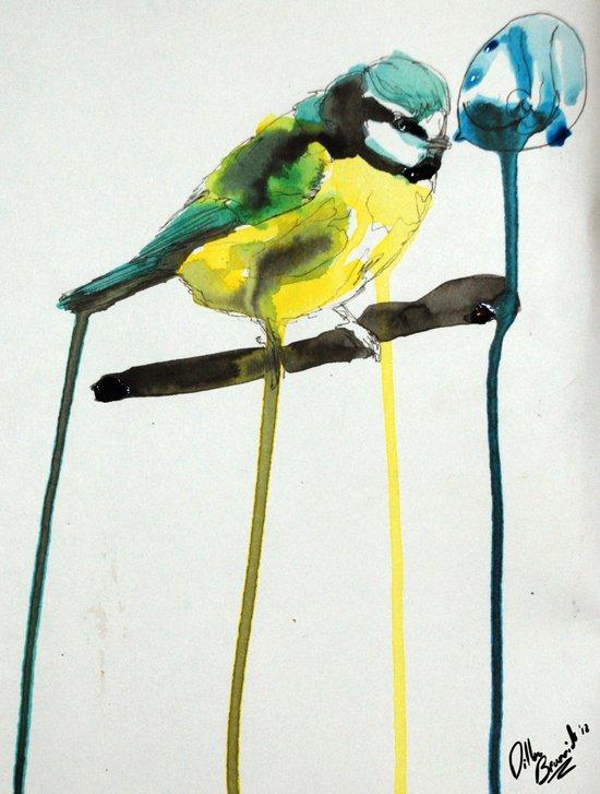 Blue Tit Art Print