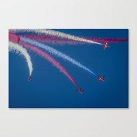 Red Arrows 1,2,3,  Canvas Print