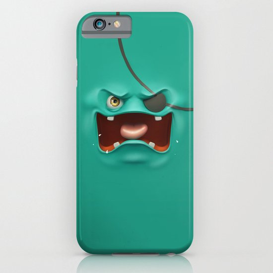 Angry face iPhone & iPod Case