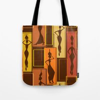 African Water Girl Pattern Tote Bag