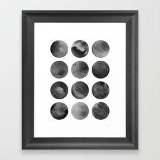Watercolor Dots Framed Art Print