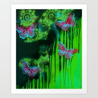 Teal Wings Art Print