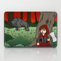 Little Red Riding Hood Versus Big Bad Wolf iPad Case