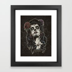 Day of The Dead Woman Framed Art Print