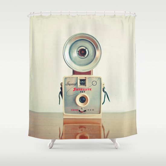 Satellite Shower Curtain