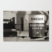 Old Sinclair Motor Oil Can Canvas Print