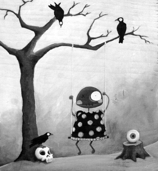 Little Lulu- Swing Time Art Print