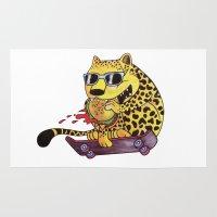 Skating Cheetah Rug