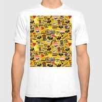 LOLzig Pattern Mens Fitted Tee White SMALL