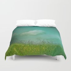 Daydreaming in the meadow - textured photography Duvet Cover