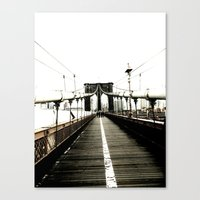 Brooklyn Bridge. Canvas Print