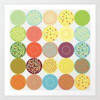 Circle pattern Art Print