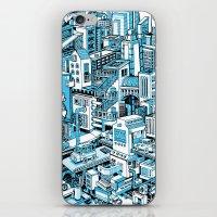 City Machine - Blue iPhone & iPod Skin