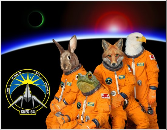 STARFOX - The Lylat Space Program Canvas Print