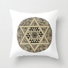 Triangle star Throw Pillow