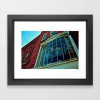 Window Through The Past Framed Art Print