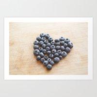 Blueberry Heart Art Print