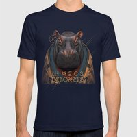 Hippo Mens Fitted Tee Navy SMALL