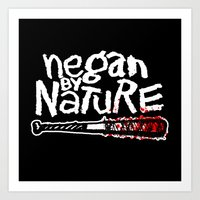 Negan by Nature Art Print