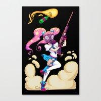 Riot Magical Girl Canvas Print