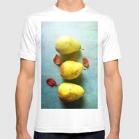 Three Pears Mens Fitted Tee White SMALL