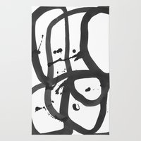 Black & White Abstract 1 Rug
