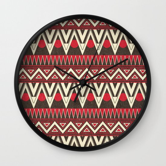 Tribal New World  Wall Clock