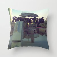 Society6 SAFE TRANSPORT Throw Pillow