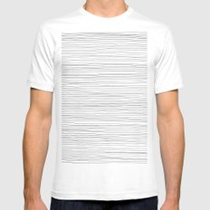 More Lines Mens Fitted Tee White SMALL