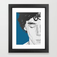Sherlock Close-Up Framed Art Print