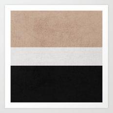 classic - natural, cream and black Art Print