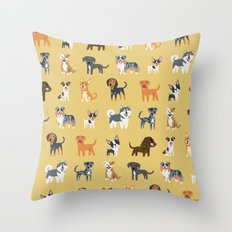 AMERICAN DOGS Throw Pillow