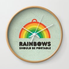 Rainbows should be portable. Wall Clock