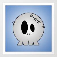 Dead Little Skull Art Print