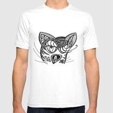 Gata SMALL White Mens Fitted Tee