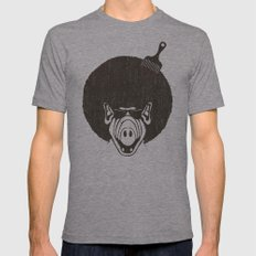 Alfro Mens Fitted Tee Athletic Grey SMALL