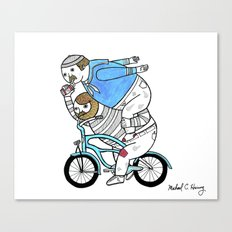 On how bicycle riders utilize team work in certain situations. Canvas Print
