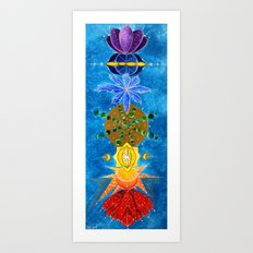 Chakra Art Print Yoga Art Energy Sacred geometry chakra symbols chakra colors Art Print