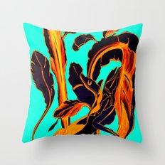 Blue Marker Teal Fire Ph… Throw Pillow
