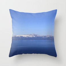 Mt Rose and Slide Mt Throw Pillow